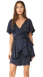 Zimmermann Wrap Romper French Navy