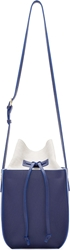 Maiyet Blue Leather And Canvas Sia Bucket Bag