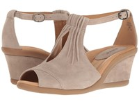 Earth Caper Ginger Suede Women's Wedge Shoes Orange
