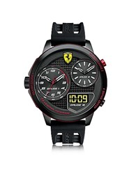 Ferrari Xx Kers Black Stainless Steel Case And Silicone Strap Men's Watch