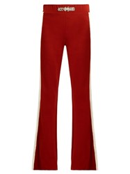 Wales Bonner Angelo Embellished Flared Wool Blend Trousers