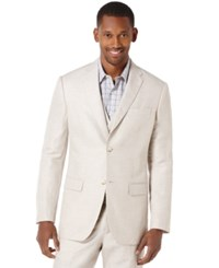 Perry Ellis Linen Blazer Natural Linen