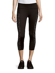 Reebok Muse Paneled Performance Capris Black