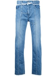 Christian Dada Front Seam Jeans Blue