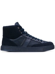 Versace Jeans Lace Up Hi Top Sneakers Blue