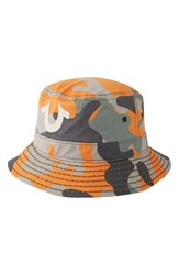 Men's True Religion Brand Jeans Camo Bucket Hat Hivis Orange