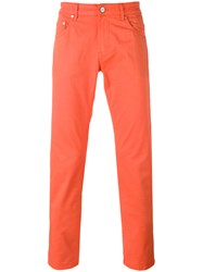 Pt05 Classic Chino Trousers Men Cotton Spandex Elastane 36 Yellow Orange