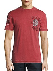 Affliction Motor Graphic Tee Distressed Burnt