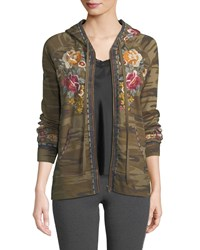 Johnny Was Cherelle Zip Front Hoodie Plus Size Molly Camo
