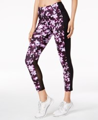 Ideology Printed Cropped Leggings Created For Macy's Purple Knockout