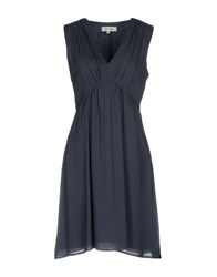 Dry Lake. Short Dresses Dark Blue