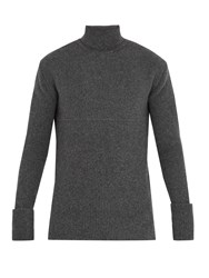 Wooyoungmi Roll Neck Wool Blend Sweater Grey