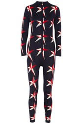 Perfect Moment Star Ii Intarsia Merino Wool Jumpsuit Red