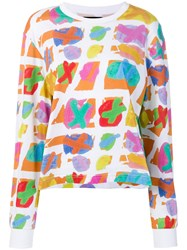 House Of Holland Abstract Print T Shirt White