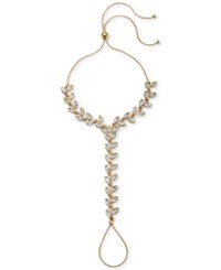 Jewel Badgley Mischka Gold Tone Crystal Hand Chain