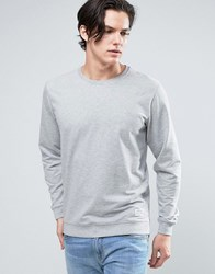 Solid Sweatshirt In Grey Grey