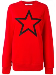 Givenchy Star Print Sweatshirt Red