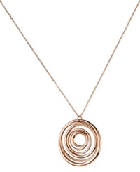 Calvin Klein Rose Gold Tone Pvd Open Swirl Pendant Necklace