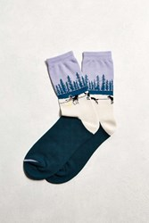 Urban Outfitters Iditarod Rest Stop Sock Lavender