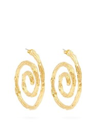 Lizzie Fortunato Spiral Gold Plated Earrings Gold
