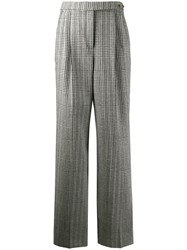 Ermanno Scervino Check Print Trousers Grey