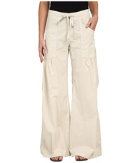Xcvi Willowy Wide Leg Stretch Poplin Pant Sea Salt Women's Casual Pants Multi