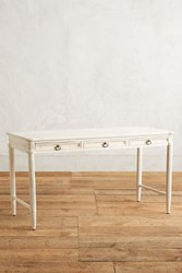 Anthropologie Washed Wood Desk White