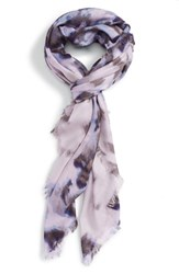 Nordstrom Women's Feathered Cat Cashmere And Silk Scarf Purple Combo