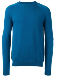 Paul Smith Ps By Ribbed Round Neck Jumper Blue