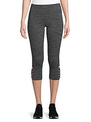 Andrew Marc New York Caged Cuff Cropped Leggings Cement Heather