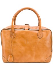 Golden Goose Deluxe Brand Smooth Zipped Tote Bag Brown