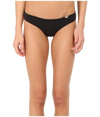 Emporio Armani Sophisticated Microfiber Thong Black Women's Underwear