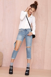 Nasty Gal Hole New Game Jean