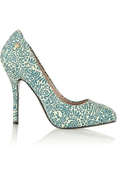 Vivienne Westwood Printed Canvas Pumps