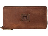 Sts Ranchwear The Baroness Bi Fold Zip Wallet Brown Bi Fold Wallet