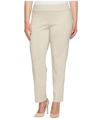 Krazy Larry Plus Size Pull On Ankle Pants Stone Women's Dress Pants White
