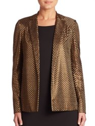 Akris Icon Square Embroidered Jacket Bronze