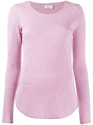 Closed Long Sleeve Fitted Top Pink