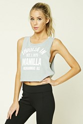Forever 21 Active Thrilla In Manila Tank Light Grey