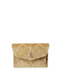 Hayward Venetian Brocade Envelope Clutch Bag Gold