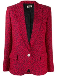 Zadig And Voltaire Slim Fit Blazer Red