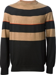 Aimo Richly Striped Roll Neck Sweater Black