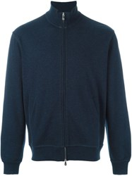 Brunello Cucinelli Zipped Sweatshirt Blue