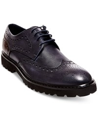 Steve Madden Men's Marlen Wingtip Dress Oxfords Men's Shoes Navy