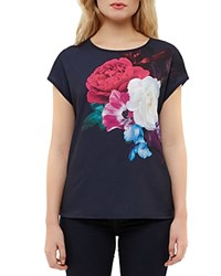 Ted Baker Blushing Bouquet Printed Tee Navy