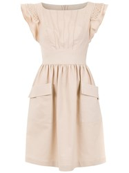 Martha Medeiros Short Flared Dress Nude And Neutrals