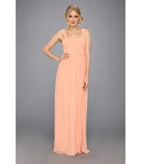 Donna Morgan Bailey Gown Peach Fuzz Women's Dress Yellow
