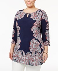 Jm Collection Plus Size Paisley Print Tunic Only At Macy's Bedford Frame