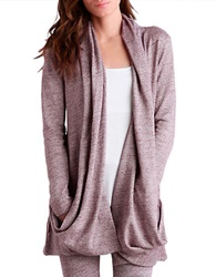 Ugg Draped Open Front Cardigan Burgundy
