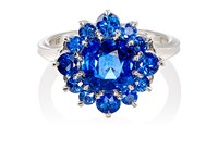 Mcteigue And Mcclelland Women's Berry Cluster Ring Navy